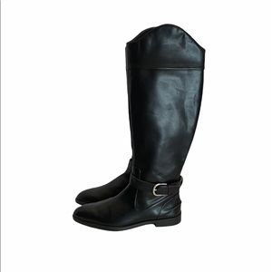 NWT Zara pleather knee high riding boots size 40